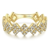 This shimmering 14k yellow gold diamond stackable ring shows off 0.28 carats of diamonds.