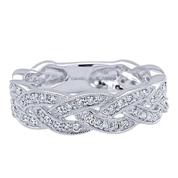 silver weddbook twist braided band media stacking thin stackable ring wedding rings