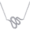 This superbly stylish 14k white gold diamond necklace with one third carats of round diamonds charm their way into your wardrobe.