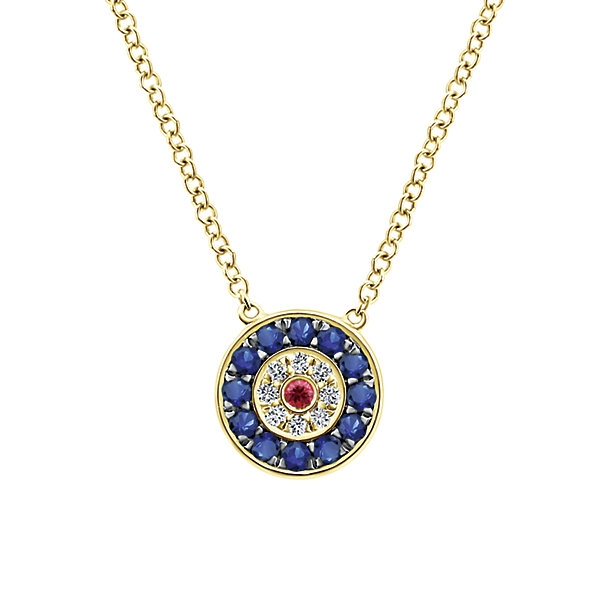 sapphire peony and motif collections necklace a graff diamond