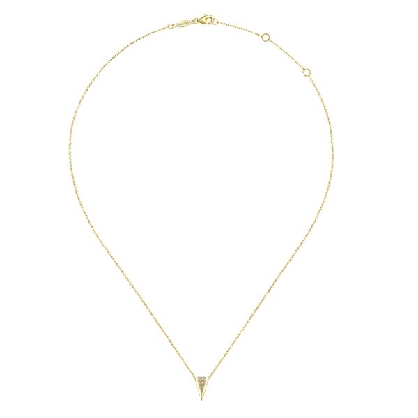 a17baabbb488f 14K Yellow Gold Hanging Triangle Necklace