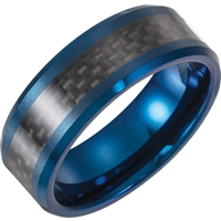 Tungsten and carbon fiber men's wedding band.