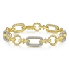 14k yellow and white gold sections create this diamond tennis bracelet.