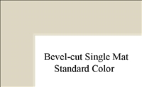 "11"" x 14"" (7 1/2"" x 9 1'2"") Single Mat - Standard Colors"