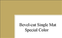 "11"" x 14"" (7 1/2"" x 9 1'2"") Single Mat - Special Colors"