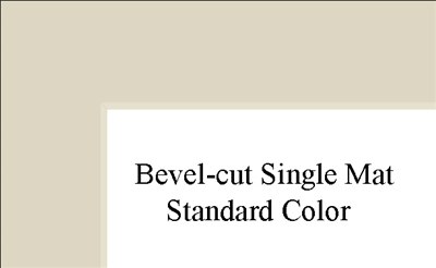 "12"" x 12"" (8 1/2"" x 8 1'2"") Single Mat - Standard Colors"