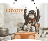 10ft Curve Coyote Popup Display Full Mural