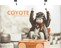 10ft Straight Coyote Popup Display Full Mural