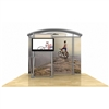 10ft Hybrid Arch Top Monitor Display with Closet Storage