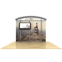 10ft Hybrid Monitor Display w/ Arch Top & Straight Fabric Sides
