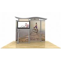10ft Hybrid Monitor Display w/ Wave Top & Storage Closet