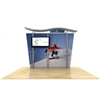 10ft Hybrid Monitor Display w/ Wave Top & Tapered Fabric Sides