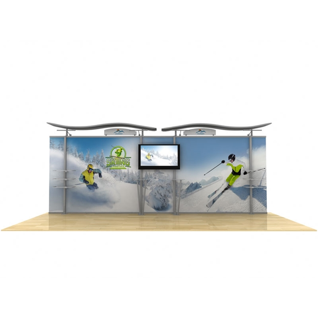 20' Hybrid Monitor Display w/ Straight Fabric Sides