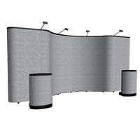 20' Velcro Fabric Mid-curve Pop Up Display