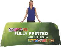 6' Fully Printed Table Throw Open Back