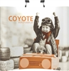 8ft Curve Coyote Popup Display Full Mural