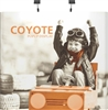 8ft Straight Coyote Popup Display Full Mural