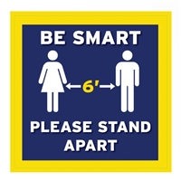 Be Smart Floor Decal