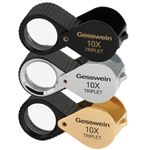 10X Triplet Loupe with Rubber Grip