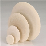 "Knife-Edge Felt Wheels, 3/4"", 1"", 1-1/2"""