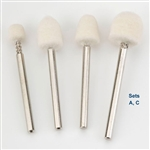 "Mounted Felt Bob Sets - 1/8"" Shank"