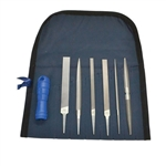 Hand File Precision 6 Piece set with Handle