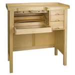 Enclosed Solid Wood Workbench