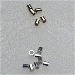 Tube Crimps, 2x2mm Gold & Silver