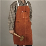 Bib Apron, Sueded Leather