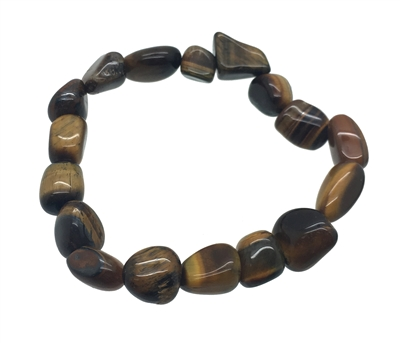 TIGER EYE Tumble Stones Elastic Bracelet 19 cm (7.5 Inches)
