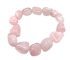 Rose Quartz Tumble Stones Elastic Bracelet 19 cm (7.5 Inches)
