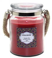 Crystalo Creations Apple Pie Scented Candle with Rope Handle, 18 Ounce