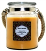 Crystalo Creations Balsam Fir Scented Candle with Rope Handle, 18 Ounce