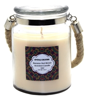Crystalo Creations Banana Nut Bread Scented Candle with Rope Handle, 18 Ounce