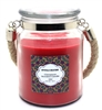Crystalo Creations Cinnamon Scented Candle with Rope Handle, 18 Ounce