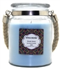 Crystalo Creations Fresh Linen Scented Candle with Rope Handle, 18 Ounce