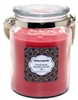 Crystalo Creations Fresh Rose Scented Candle with Rope Handle, 18 Ounce