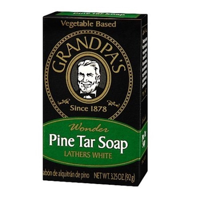 Grandpa's Pine Tar Bar Soap 3.25 Ounce - Original