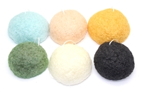 Konjac Sponge Puff, SET of 6 Variety