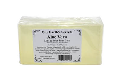 Aloe Vera - 2 Lbs Melt and Pour Soap Base