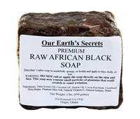 Premium Raw African Black Soap