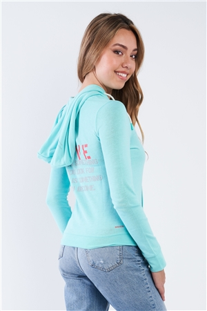 "Aruba Casual Long Sleeve ""Love"" Zip Up Hoodie"