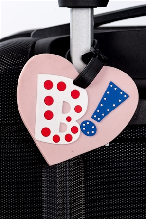 Heart Luggage Tag Initial (B)