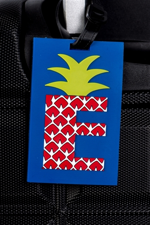 "Pineapple ""E"" Luggage Tag"