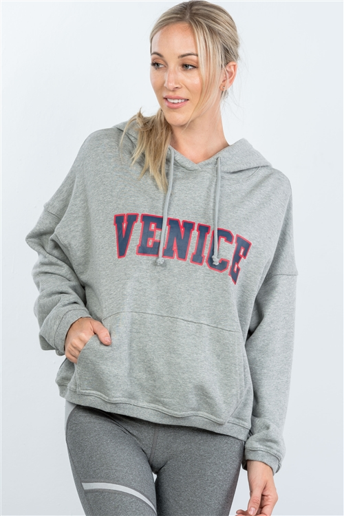 Grey Venice Pullover Hoodie