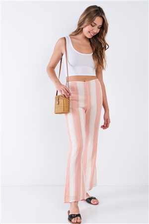 Canyon Sunset Stripped Linen Palazzo Pants