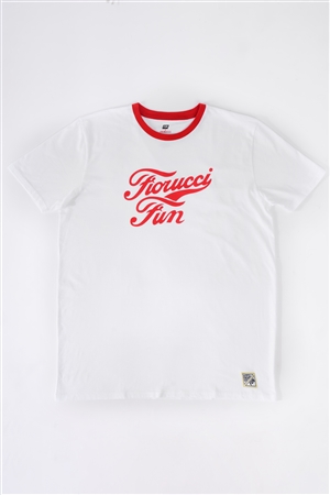 Fiorucci Fun Men's White & Red Printed Logo T-Shirt For Him /2-1-1