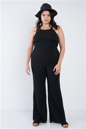 Plus Size Black Wide Leg Jumpsuit