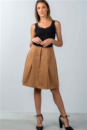 Khaki Pleated Skort