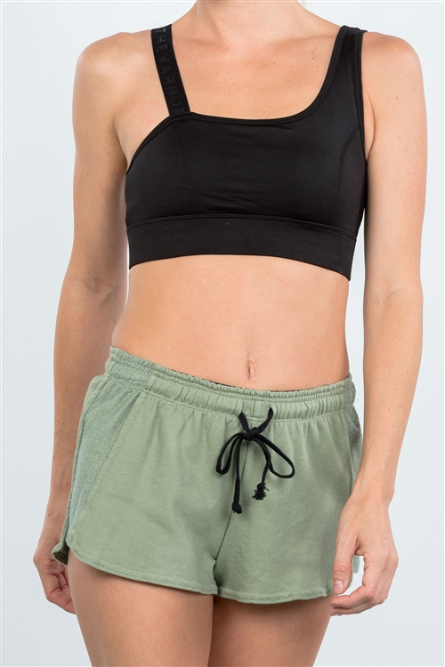 Avocado Drawstring Waist Shorts